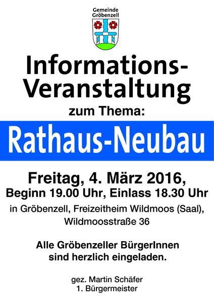 Info-Veranstaltung: Rathaus-Neubau