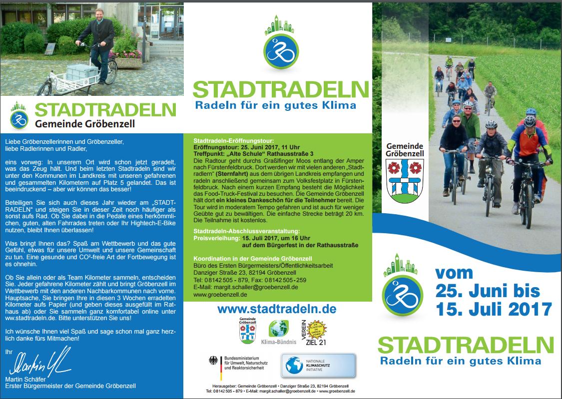 Startschuss zum STADTRADELN 2017
