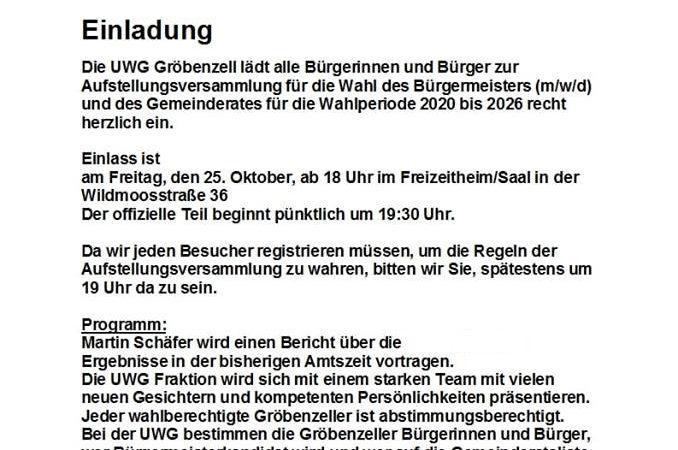 Martin Schäfer bewirbt sich bei den Gröbenzeller/innen erneut für das Amt des Ersten Bürgermeisters.