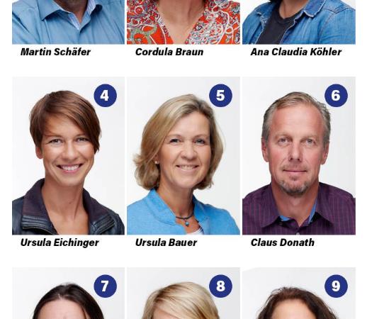 Gemeinderatskandidaten der UWG