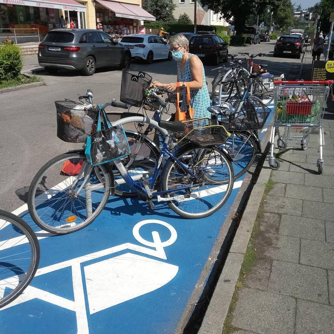 Fahrradparkplatz in der Kirchenstraße